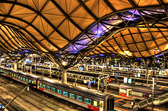 Illuminated Southern Cross station