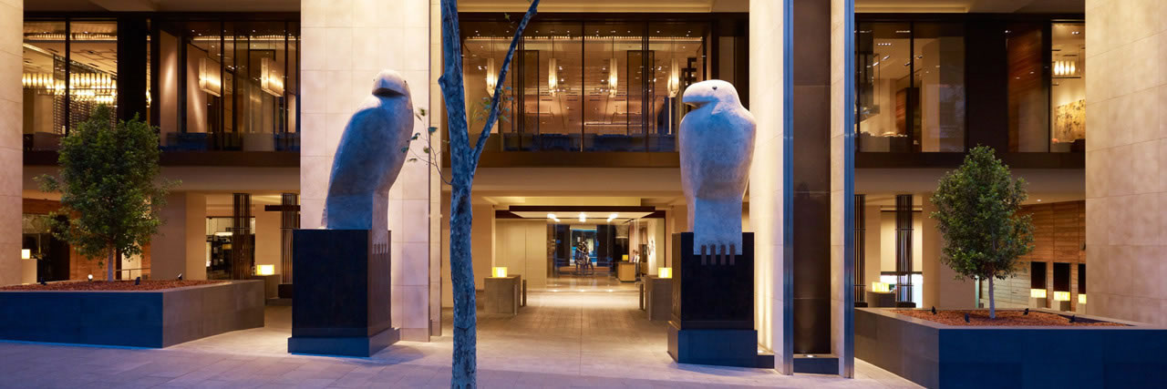 Grand Hyatt main entrance at Melbourne