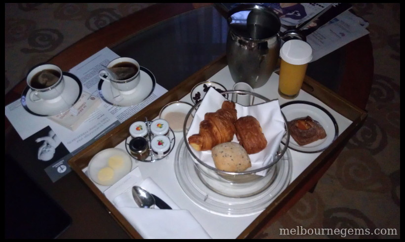 Park Hyatt Melbourne in room breakfeast