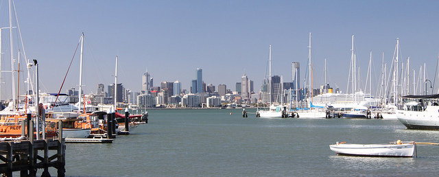 View of the CBD from Williamstown pier