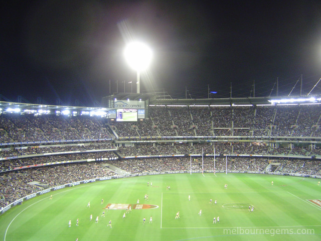 Footy game at the MCG