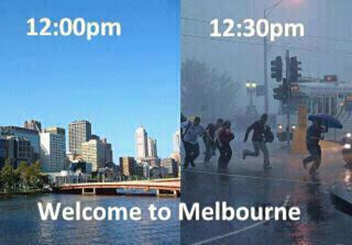 Melbourne crazy weather