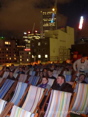 Rooftop cinema in Melbourne CBD